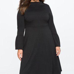 Eloquii Flare Sleeze Midi Dress